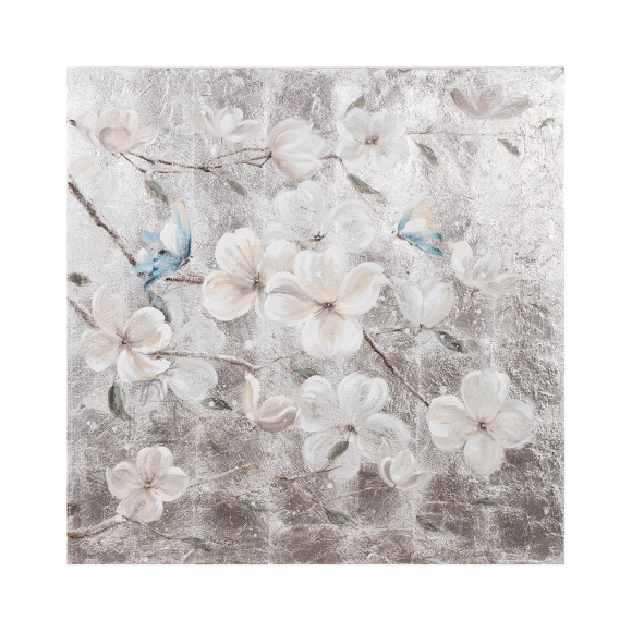 Õlimaal Õied - liblikad 90x90 cm