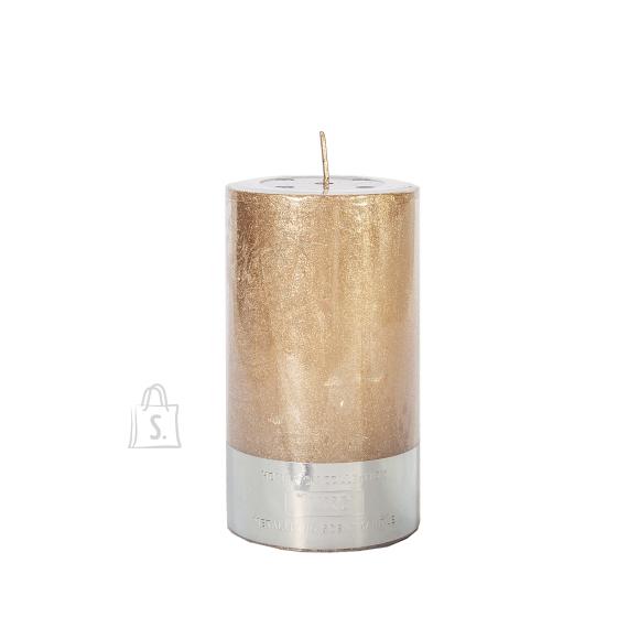Küünal LUXO, D6.8xH12cm, vask metallik