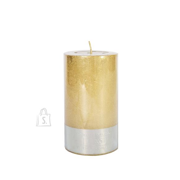 Küünal LUXO, D6.8xH12cm, kuldne metallik