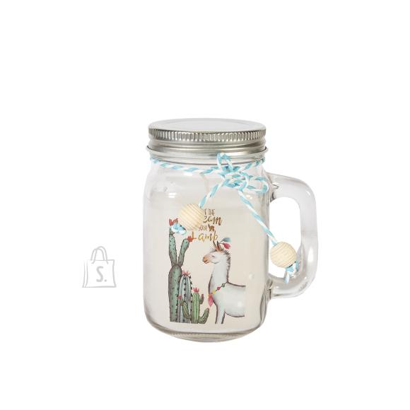 Klaaspurk küünlaga JARRA ALPACA, H11.3cm