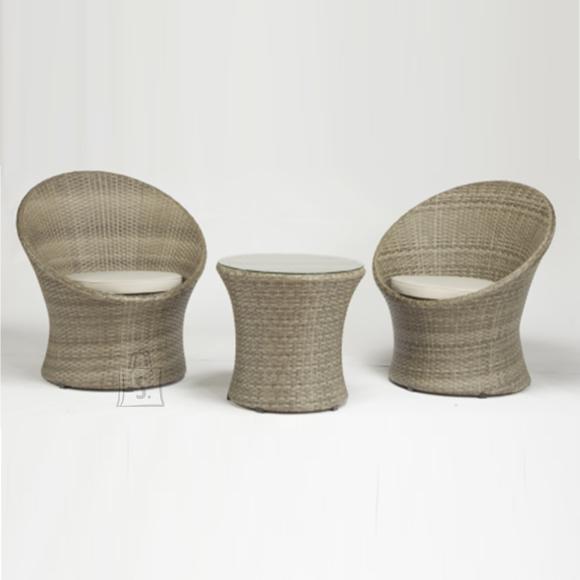 Garden4you Komplekt NOCETO laud ja 2 tooli