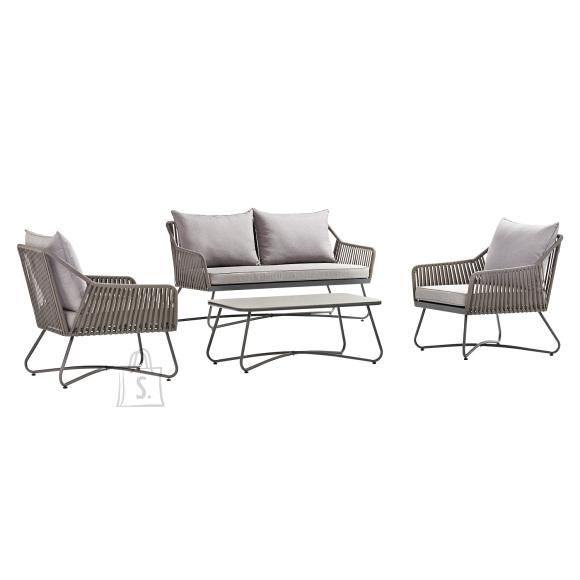 Komplekt ANDROS laud, diivan ja 2 tooli