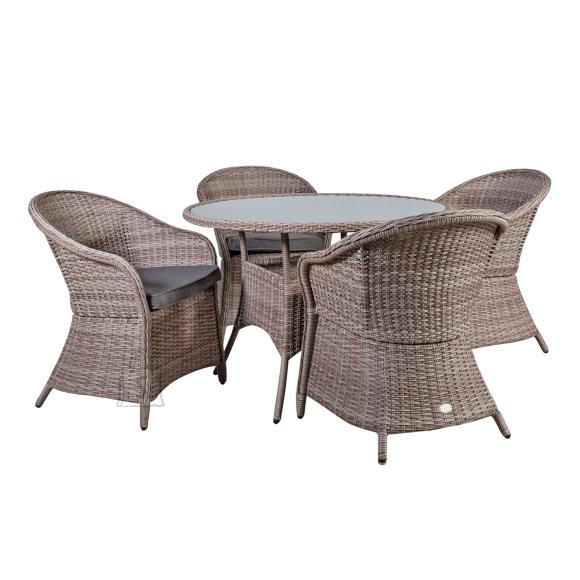 Aiamööblikomplekt Siena laud ja 4 tooli