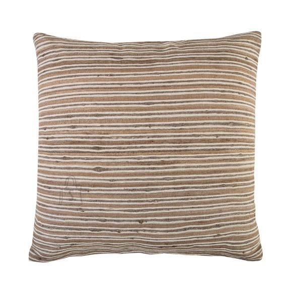 Dekoratiivpadi Silk beežitriibuline 45x45cm