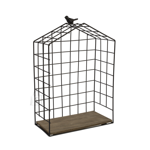 Riiul BIRD CAGE-1, L must metall/ puit