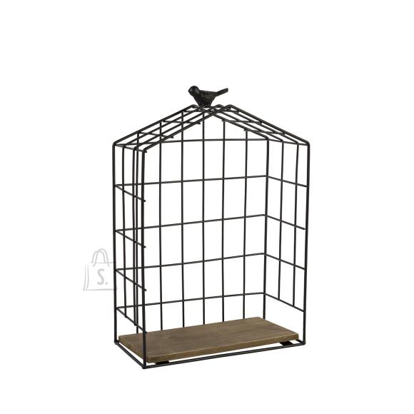 Riiul BIRD CAGE-2, M must metall/ puit