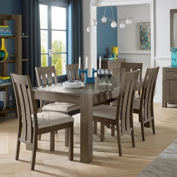 Söögilauakomplekt Turin  laud 125/165 cm + 6 tooli