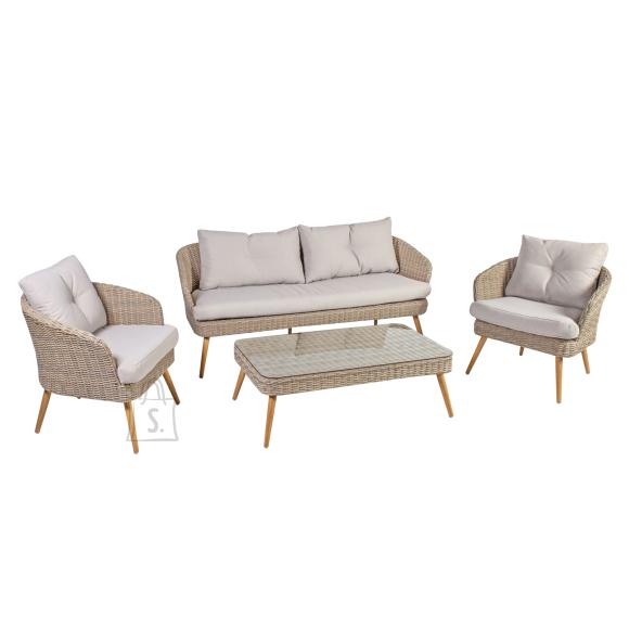 Komplekt NORWAY laud, diivan ja 2 tooli