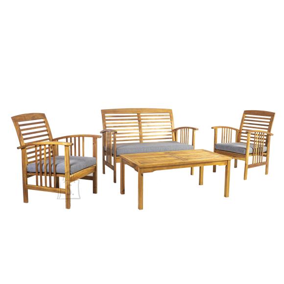Garden4you Komplekt FINLAY laud, pink ja 2 tooli