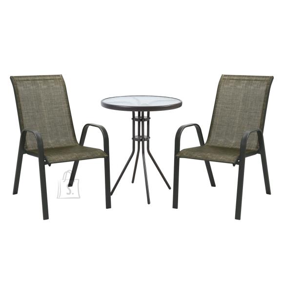 Komplekt DUBLIN laud ja 2 tooli 11874