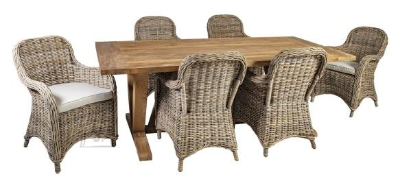 Söögilauakomplekt Katalina laud ja 6 tooli