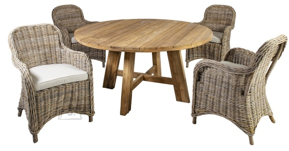 Aiamööblikomplekt Katalina laud ja 4 tooli