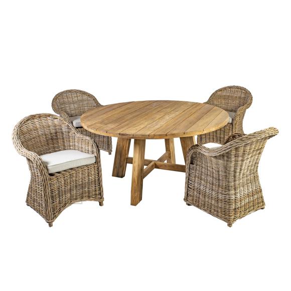 Aiamööbel Katalina laud ja 4 tooli