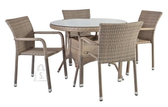 Aiakomplekt Larache laud ja 4 tooli