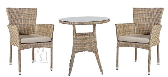 Aiamööbel Larache väike laud ja 2 tooli