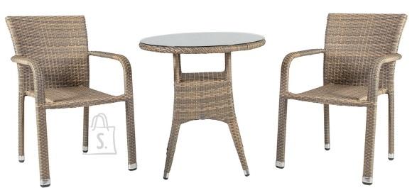 Aiamaööbel Larache väike laud ja 2 tooli