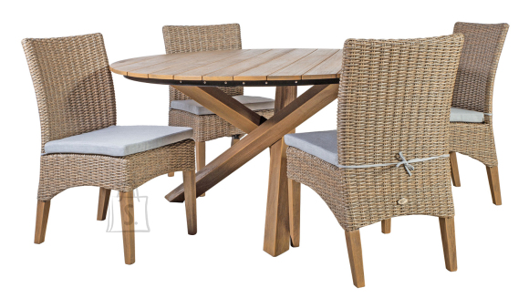 Aiamööbel Henry ümmargune laud ja 4 tooli