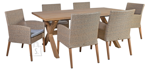 Aiamööbel Henry laud ja 6 tooli