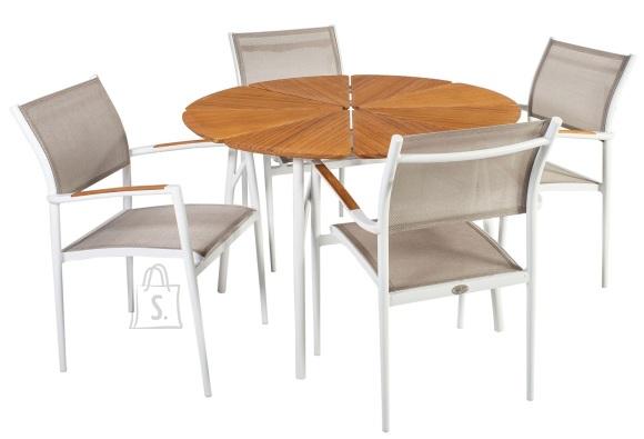 Aiamööbel Greenwood ümmargune laud ja 4 tooli