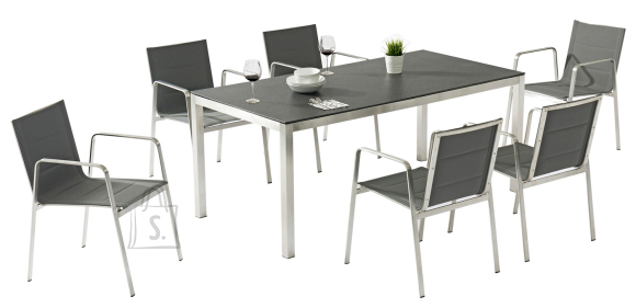 Aiamööbel Beverly laud ja 6 tooli