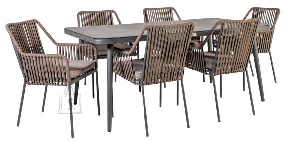 Aiamööbel Andros laud ja 6 tooli