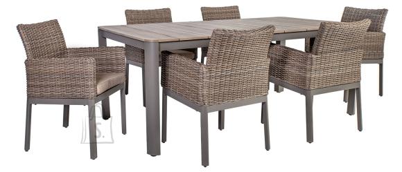 Aiamööbel Admiral laud ja 6 tooli