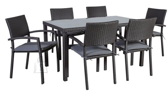Aiamööbel Basic-2 laud ja 6 tooli