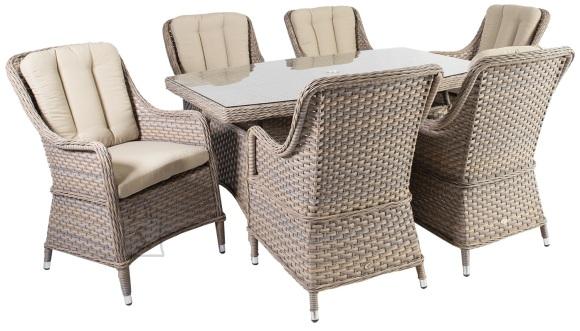 Aiamööbel Eden laud ja 6 tooli