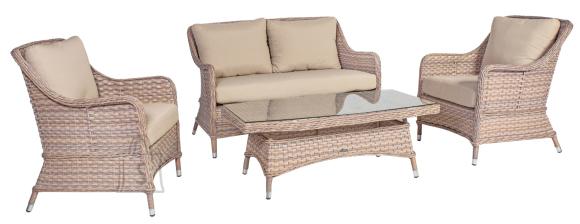 Aiamööbel Eden laud, diivan ja 2 tooli