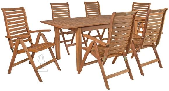 Aiamööbel Eureka laud ja 6 tooli
