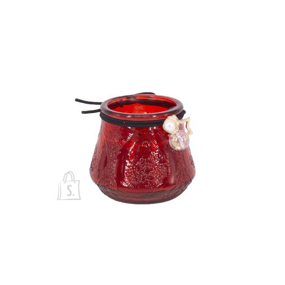 Klaasküünal VENEETSIA, H6.8cm, punane