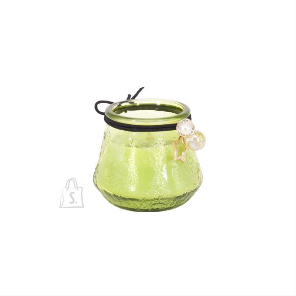 Klaasküünal VENEETSIA, H6.8cm, roheline
