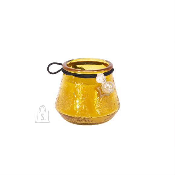 Klaasküünal VENEETSIA, H6.8cm, kollane