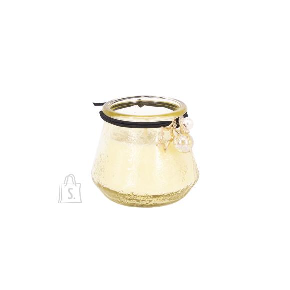 Klaasküünal VENEETSIA, H6.8cm, valge