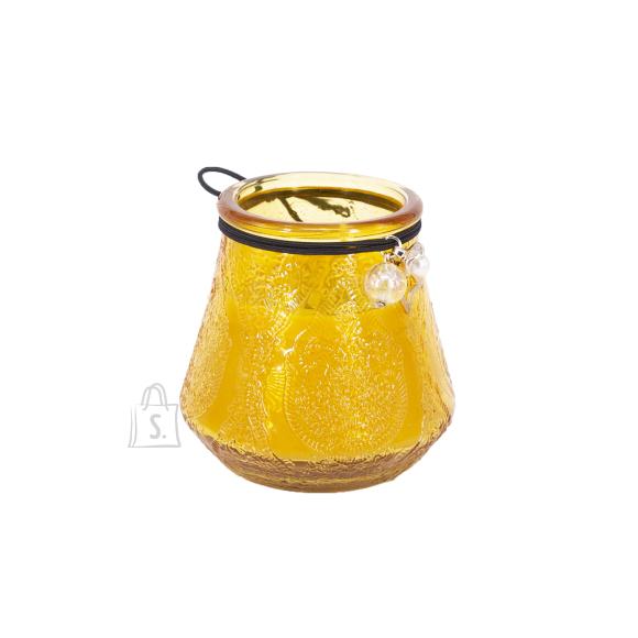 Klaasküünal VENEETSIA XL, H9.5cm kollane