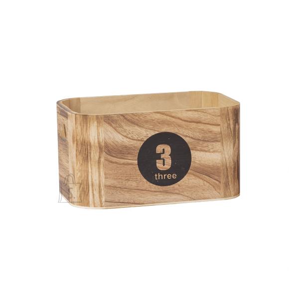 Puitkast NOMO-3, 26x16x14cm, numbriga