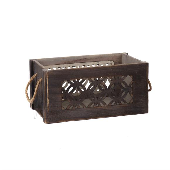 Puitkast LAZER-2, 31x21x16cm, pruun