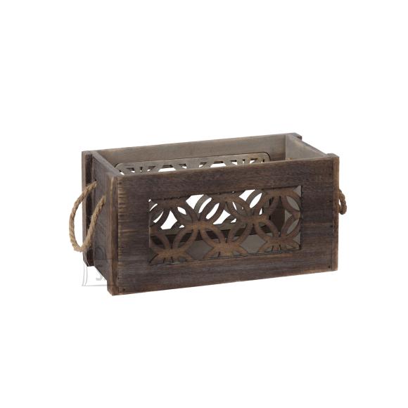 Puitkast LAZER-3, 26x16x14cm, pruun