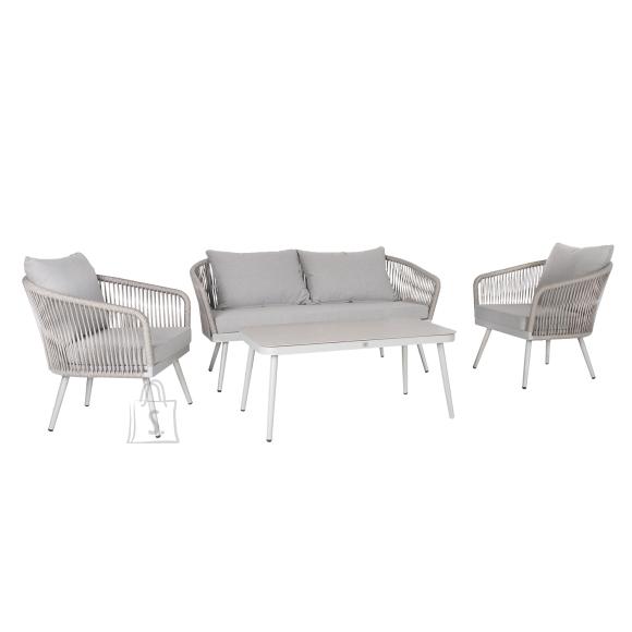 Garden4you Komplekt ECCO laud, diivan ja 2 tooli