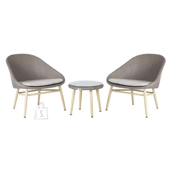 Garden4you Rõdukomplekt CALI laud ja 2 tooli