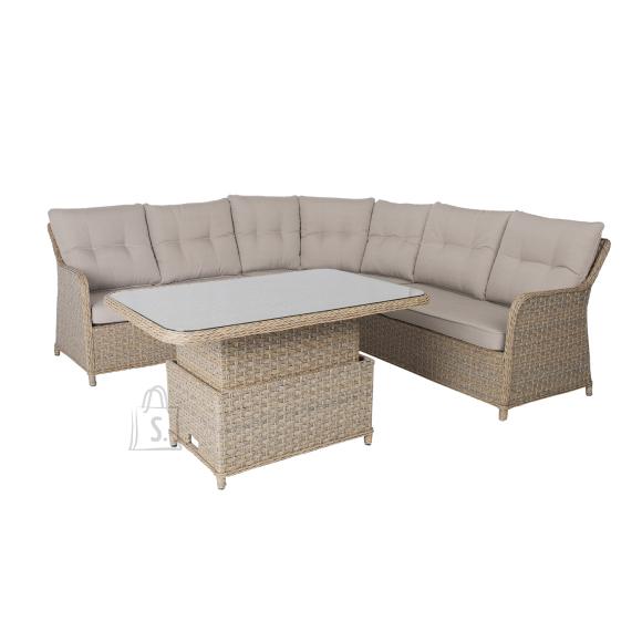 Garden4you Komplekt PACIFIC laud ja nurgadiivan