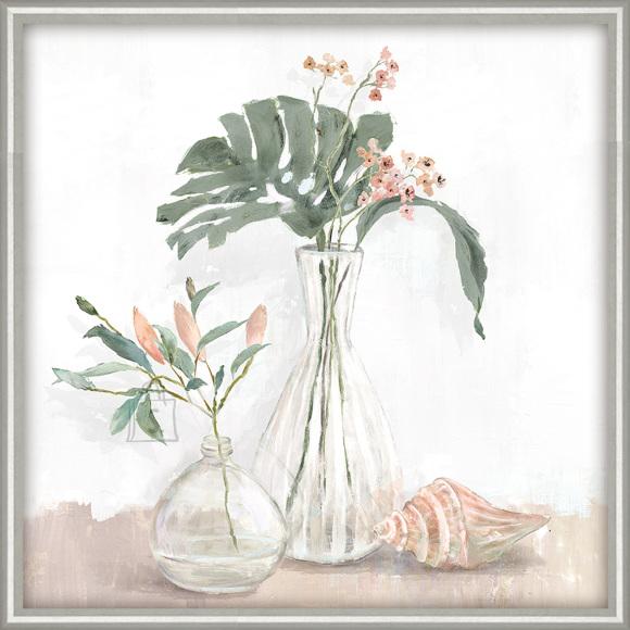Maal raamiga, 40x40cm, lilled vaasis 2