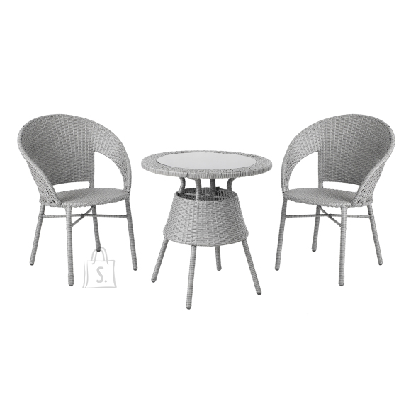 Garden4you Komplekt PAULA laud ja 2 tooli