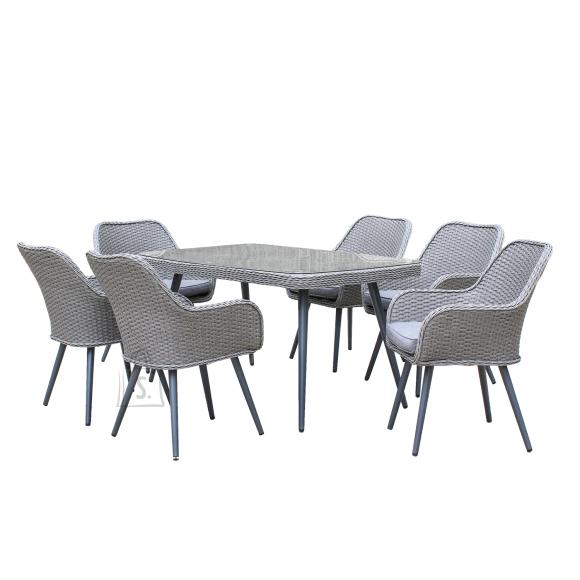 Komplekt RETRO laud ja 6 tooli (13698)