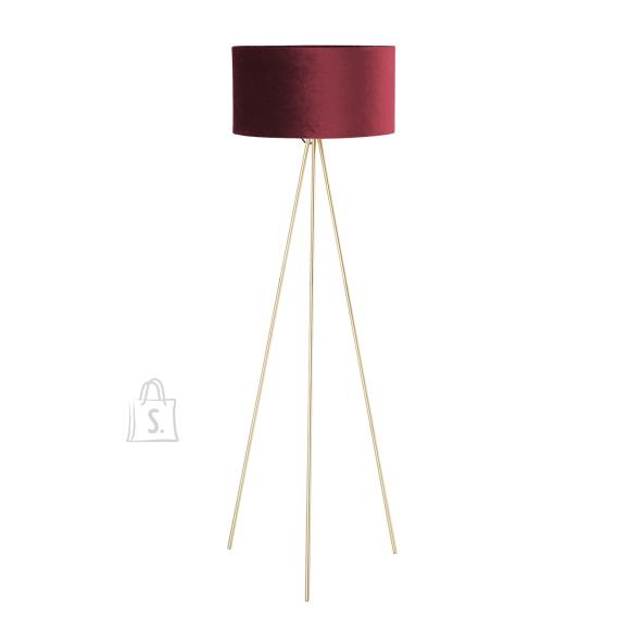 Põrandalamp TRINITY H151cm, punane/kuld