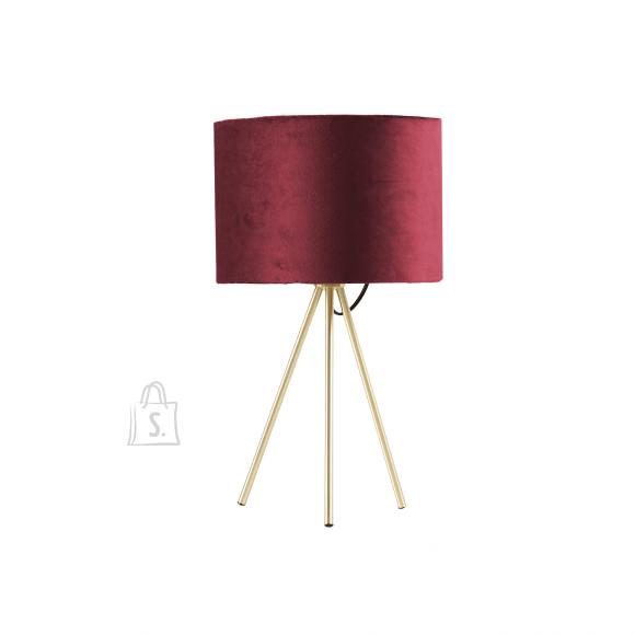Laualamp TRINITY H42cm, punane/kuldne
