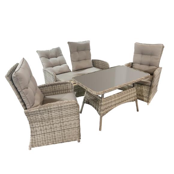 Komplekt EMERALD laud, diivan ja 2 tooli