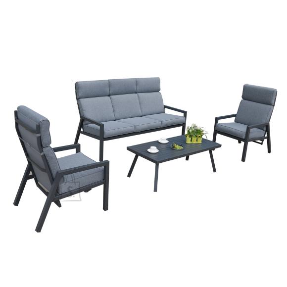 Garden4you Komplekt CASPER laud, diivan ja 2 tooli