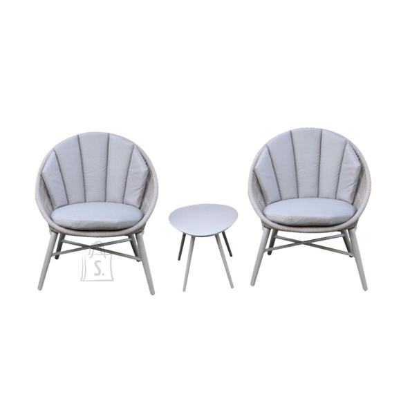Rõdukomplekt SHELLY laud ja 2 tooli