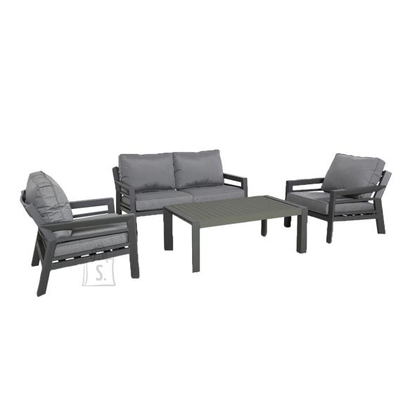 Garden4you Komplekt TOMSON laud, diivan ja 2 tooli